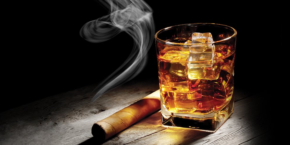 Bourbon and Cigar Image